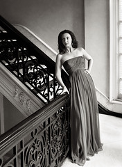 Fashion - Irving Penn Style (David Michael Fine Portraits) Tags: light portrait woman beauty stairs portraits hair natural fine stairwell duotone brunette gown irvingpenn davidmichael mygearandme mygearandmepremium mygearandmebronze