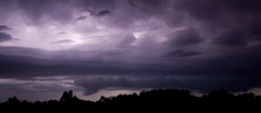 Summer Storm Over Longreach (Dink's (Busy Being a Dad)) Tags: show trees light storm water rain clouds track queensland outback lightning common strikes dinks longreach therebeastormabrewin australiathunderstorms cloudsstormssunsetssunrises