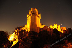 Warwick Castle (4/52) (JRT ) Tags: longexposure trees windows wallpaper sky castle rock night stars nikon flag bricks towers medieval ramparts stgeorge warwick warwickshire startrails warwickcastle flickrshoot d300s johnwarwood flickrjrt