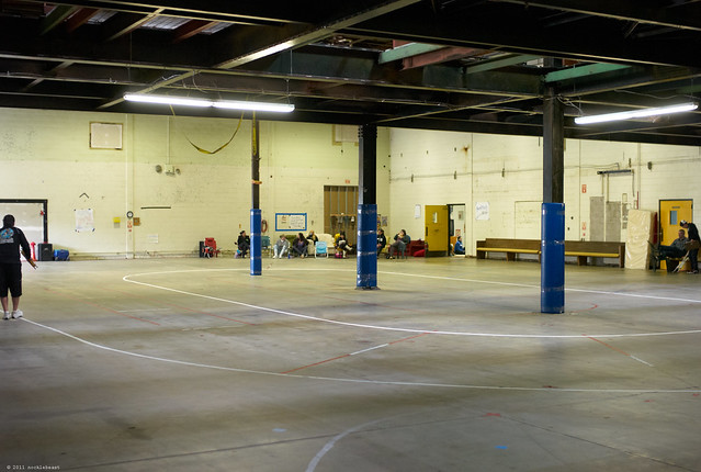 a westside warehouse as a venue for roller derby