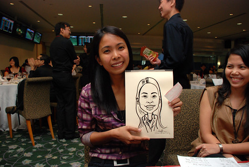 caricature live sketching for Thorn Business Associates Appreciate Night 2011 - 21