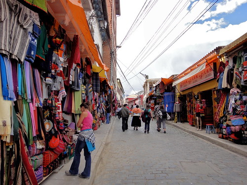 Witches Market in View of La Paz, Bolivia