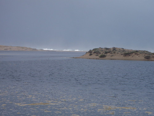 Abbotts Lagoon and big waves