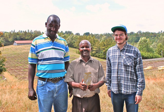 Charles, Geofrey and Casper at Kieni