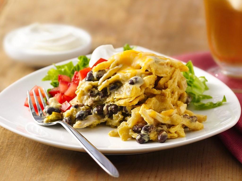 Green Chile-Chicken Enchilada Casserole Recipe