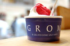 Gelato à la GROM (marin.tomic) Tags: travel italien italy ice florence italian nikon europe italia bokeh delicious icecream tuscany gelato toscana eis grom toskana tuscan d40