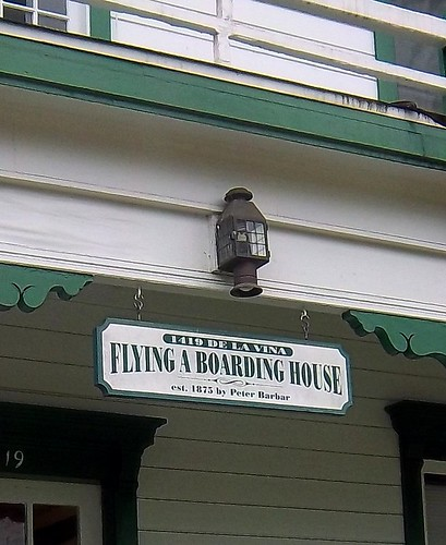 Flying A Boarding House Sign