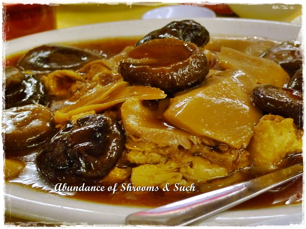 Braised Mushrooms and Beancurd