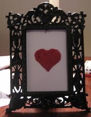 Red Beaded Heart