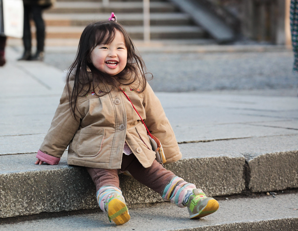 Cute child in Kyoto