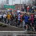 Runners got a good look at Raleigh's revitalized Hillsborough Street during the Krispy Kreme Challenge.
