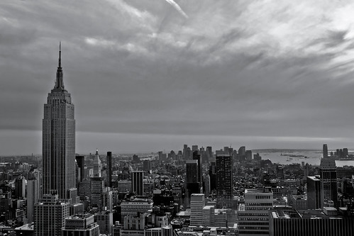 Lower Manhattan Skyline (曼哈顿下城 的天際線) in B&W