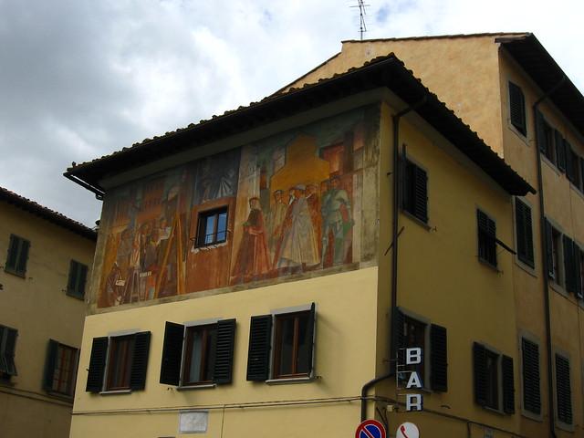 フィレンツェの壁画のフリー写真素材