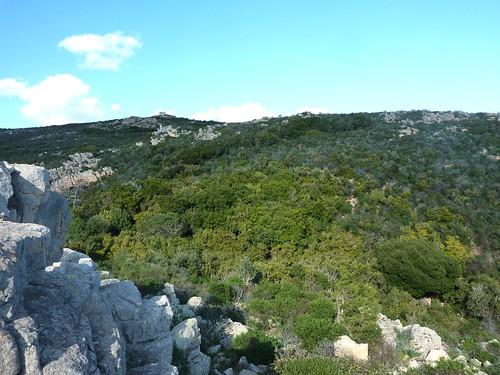 La montée vers la tour de Santa Manza