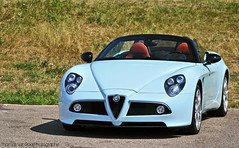 Alfa Romeo 8C Competizione Spyder (Thomas van Rooij) Tags: park blue light summer baby color colour cars car photography italian nikon italia thomas automotive spyder special event exotic alfa romeo nikkor circuit rare zandvoort supercar 2010 exotics supercars babyblue 18105 8c d90 cpz competizione rooij worldcars thomasvanrooij