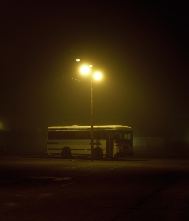 Night Work - Fog - Portland Oregon Photography