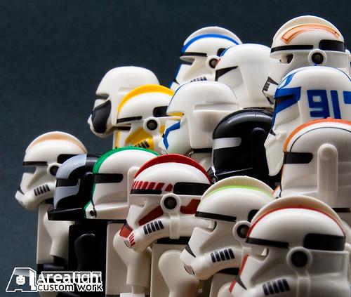 Custom minifig Printed Helmets