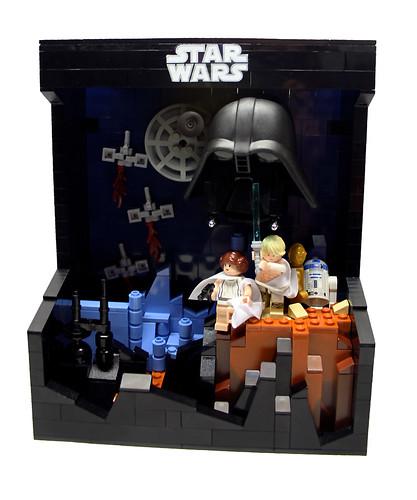 Custom minifig Star Wars 3d movie poster 1