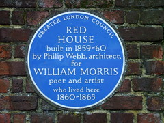 Photo of Red House, Bexleyheath, Philip Webb, and William Morris blue plaque