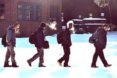 thirty-one (keenanhowie) Tags: snow walking nikon charles line obi chill conformity wintery d90 kiski kevon kiskischool keenanhowie howiekeenan diondrai pidgeonlibrary