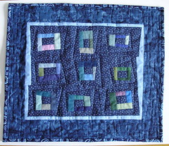Fragments (indigo.threads) Tags: original quilt handmade indigo logcabin quilting quilted scraps patchwork wonky liberated pieced smallquilt freepieced cherrywoodfabrics liberatedamishchallenge