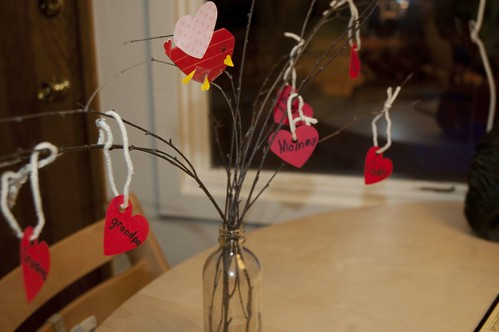 our valentine's tree