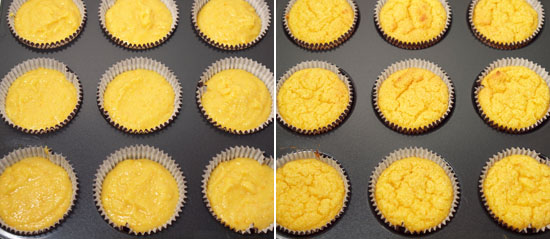 Flourless orange cupcakes - Batter
