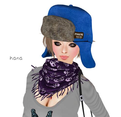 MAKNIE**Suede Torque Hat(BLUE)- LB ver.