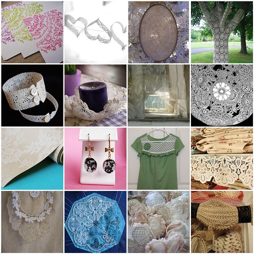Woolgathering mosiac: lace