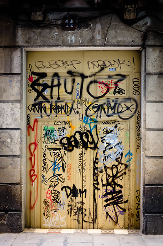 graffiti's door