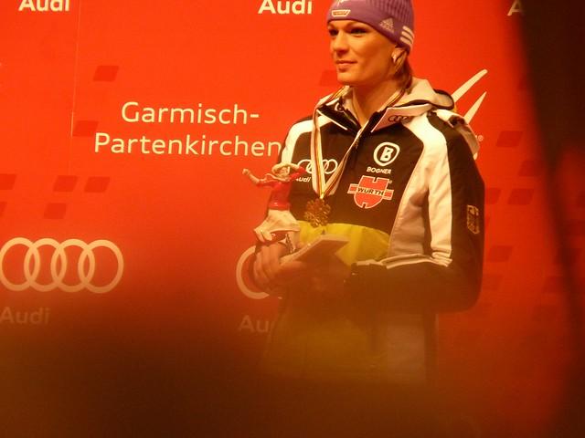 Maria Riesch, Siegerehrung Abfahrt - Ski-WM 2011