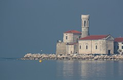 Piran (peter++) Tags: sea tower slovenia piran slovenija morje
