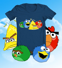 Angry Birds Shirt Parody - Sesame Street (olechka_wa) Tags: game shirt funny ipod geek videogame parody nerdy iphone ipad olechka angrybirds