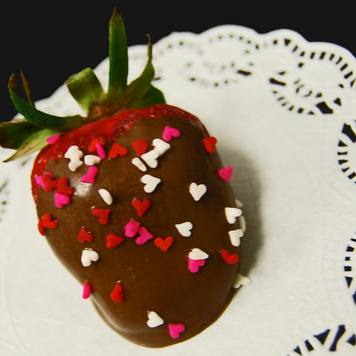 chocolate dipped Valentine strawberry