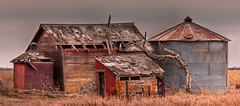 Invitation (JBachmayer Fine Art Photography) Tags: house abandoned car barn southdakota rural truck lost forgotten vehicle weathered hdr jbachmayerfineartphotography