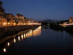 Arno Reflections (werner boehm *) Tags: italien houses italy reflections florence wasser bluehour arno fluss spiegelung lichter florenz häuser laternen blauestunde firence wernerboehm