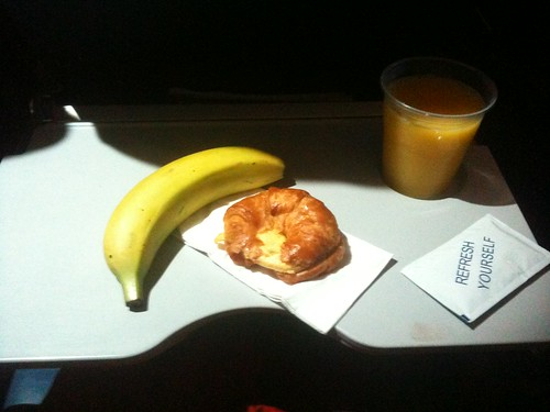 Day 15: Airplane breakfast