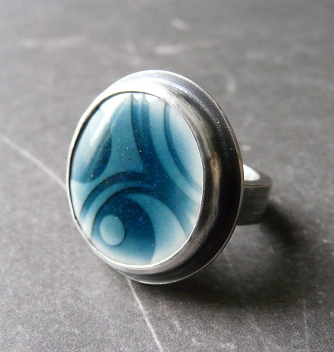 Geo Pop - Porcelain & Sterling Ring
