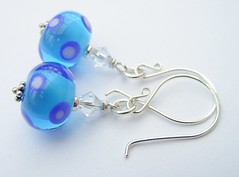 Dotty Bluebell (Glittering Prize - Trudi) Tags: blue glass beads crystal jewellery swarovski earrings jewelery dots trudi sterlingsilver glitteringprize almpwork