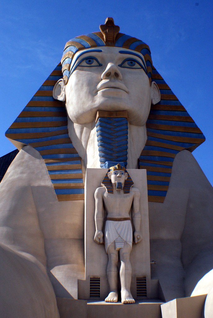 Outside the Luxor