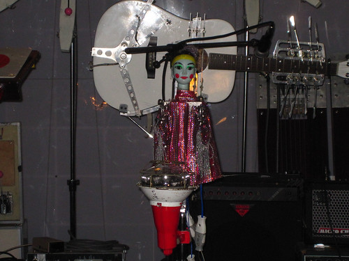 This puppet jams on the drum