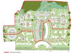 Site Plan Detailing AMA Site Boundary