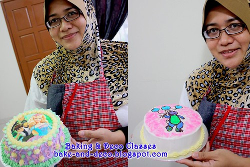 Batch 26 Dec 2010:Combo D - Basic Buttercream Cake & Drawing on Buttercream Cake