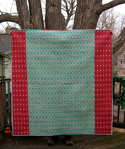 Mixtape quilt back-- folksy flannel