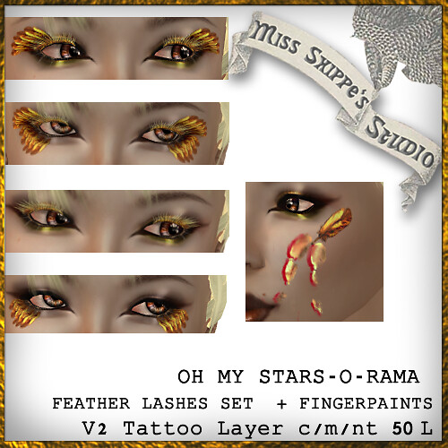 GOLD LASHES for Oh My Stars-O-Rama