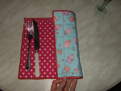 reversble cake/pink polka