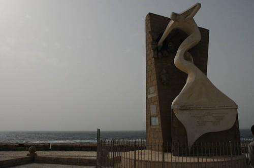 Sculpture along Akka sea wall