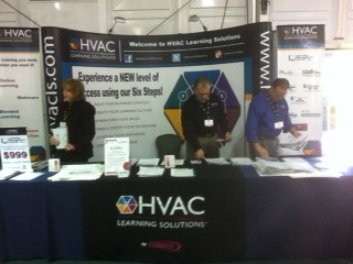 HVAC Learning Solutions booth