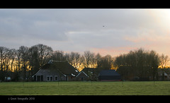 Almost dark (Greet N.) Tags: sunset zonsondergang drente januari balloo