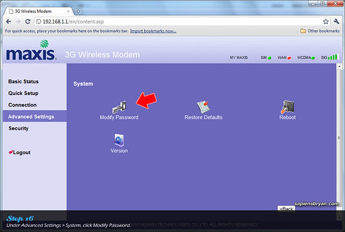 Securing Wireless Network Using Maxis WiFi Modem Step 16